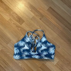 Midori Mia bikini top; wailua print